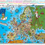 Puzzle smapou Evropy pro děti